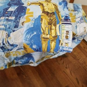 Vintage star wars twin flat and fitted sheet set